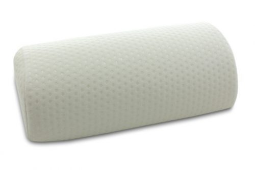 Pillow ideal for the well-being of the lumbar spine, neck and legs.